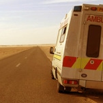 An ambulance in the desert